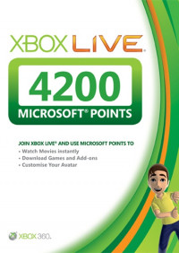 Карта оплаты Xbox Live 4200 Microsoft Points