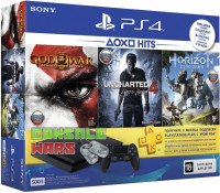 PS4 Slim (1TB) Black + Horizon Zero Dawn + Gran Turismo Sport + God of War + PS Plus 3 месяца