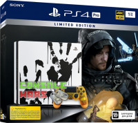 PS4 Pro (1TB) Black Death Stranding Limited Edition + игра Death Stranding