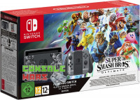 Nintendo Switch + игра Super Smash Bros. Ultimate