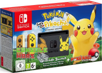 Nintendo Switch (желтый  бежевый) + Pokemon Let's Go, Pikachu!