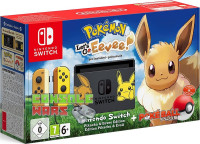 Nintendo Switch (желтый  бежевый) + Pokemon Let's Go, Eevee!