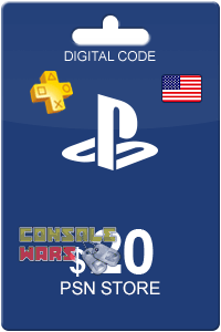 PlayStation Network (PSN) 20 $ USA (Цифровой код)