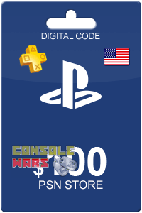 PlayStation Network (PSN) 100 $ USA (Цифровой код)
