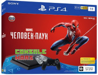 Sony PlayStation 4 1TB Slim + игра Marvel Человек-Паук (Spider-man)